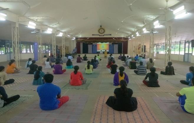 International Yoga Day session on Yoga