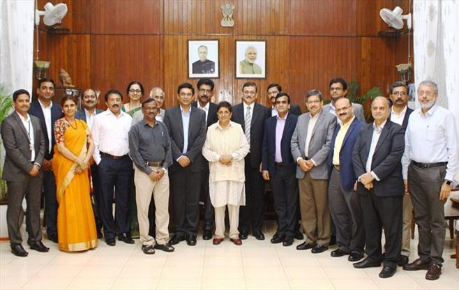 CII SR team calling on Dr Kiran Bedi