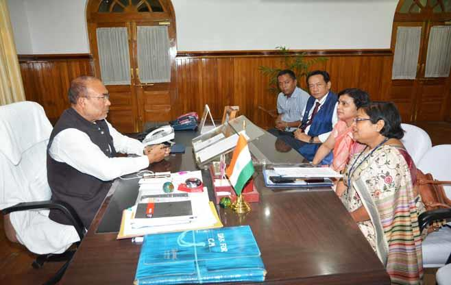 Meeting with Chief Minister of Manipur