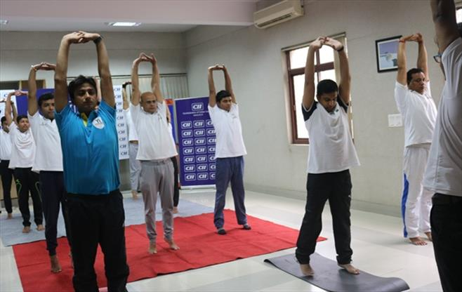 CII Lucknow Yoga Day Celebration