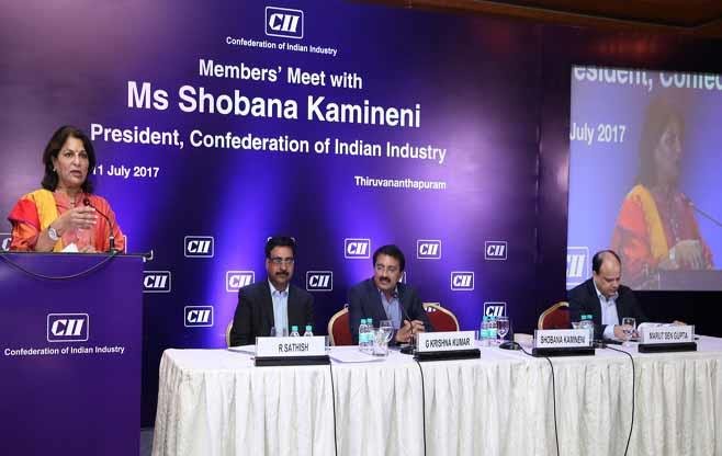 Members' meet with President, CII
