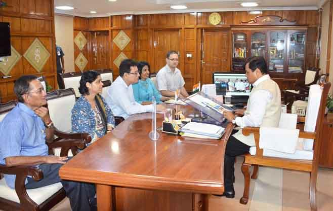 Meeting with Shri Sarabananda Sonowal