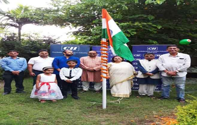 National Flag hoisting at CII Bihar