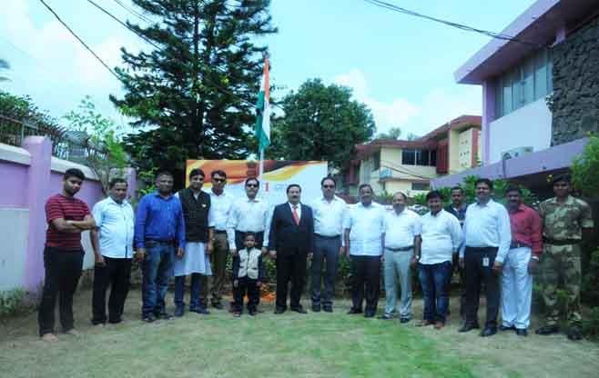 National Flag hoisting at CII Odisha