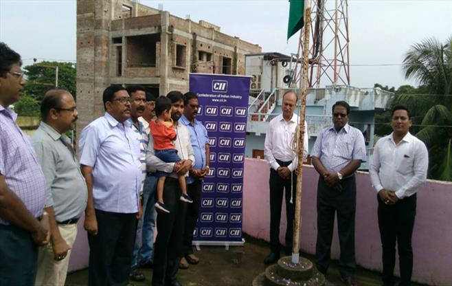 National Flag hoisting at CII Balasore