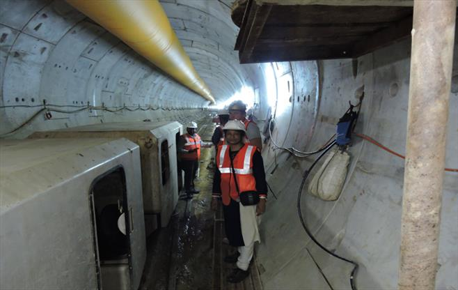 Visit to Afcons East West Metro Project
