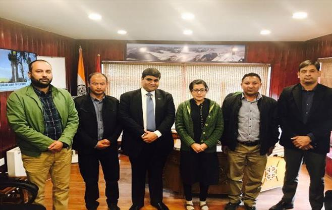 Meeting With Avny Lavasa, IAS, DC Leh