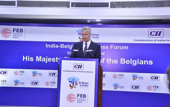 His Majesty The King of Belgians at CII
