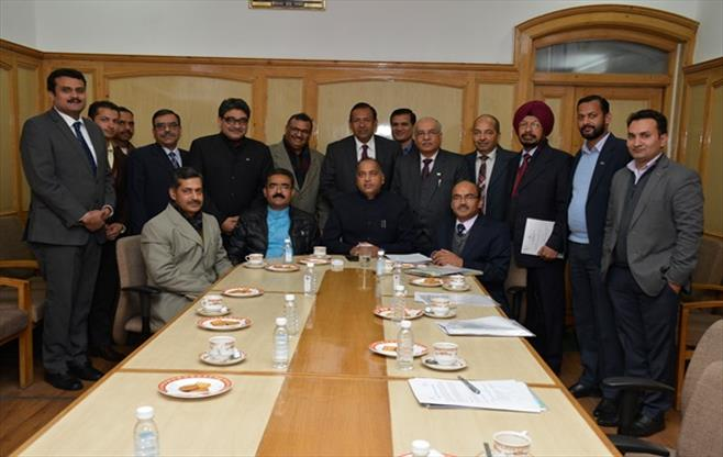 CII Delegation with Chief Minister, HP