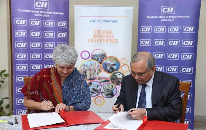 CII and UNICEF signs an MoU