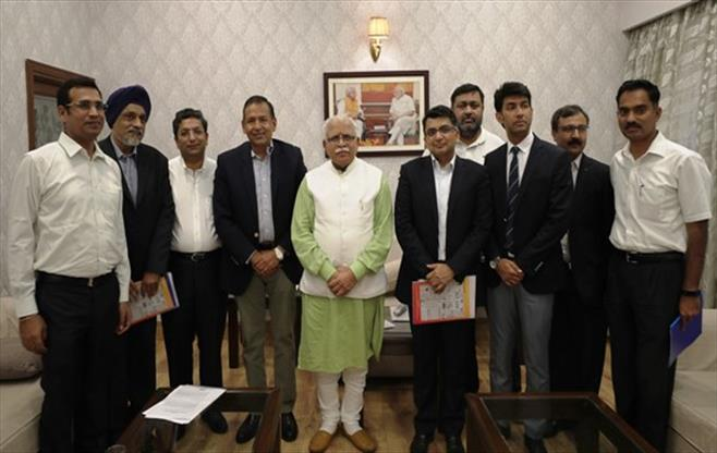 Meeting with Chief Minister of Haryana