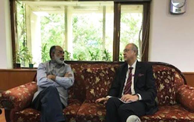 Meeting with Shri Alphons Kannanthanam