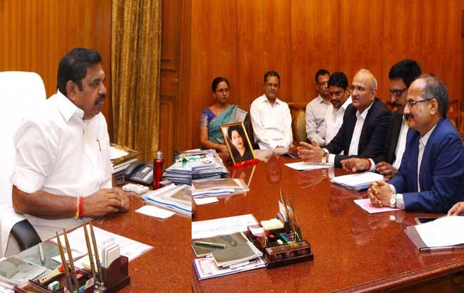 Meeting with CM of Tamil Nadu