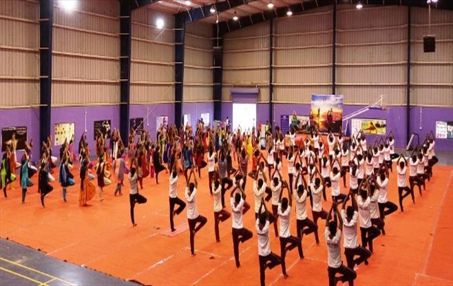 CII Trichy celebrates Yoga Day