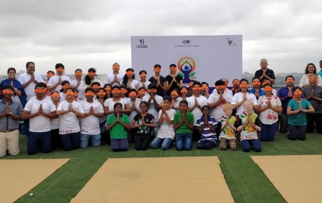 CII Bangalore celebrates Yoga Day