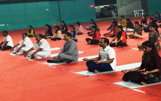 CII Kerala celebrates Yoga Day