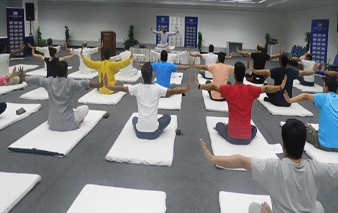 CII Chandigarh  celebrates Yoga Day