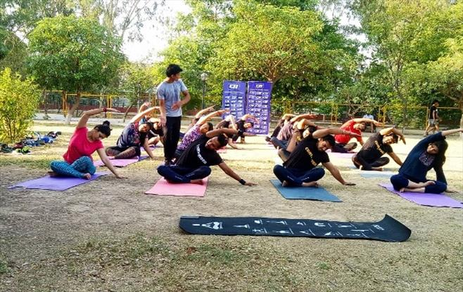 CII J&K celebrates Yoga Day