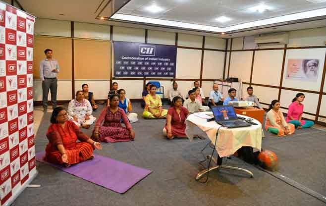 Yoga Session at CII ER