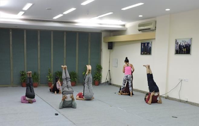 CII Gurugram  celebrates Yoga Day