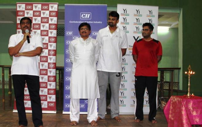 CII Vijayawada celebrates Yoga Day