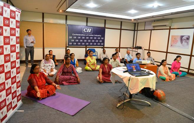 4th International Yoga Day, CII ER