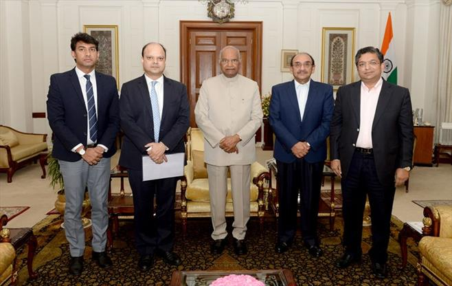 CII delegation with President of India