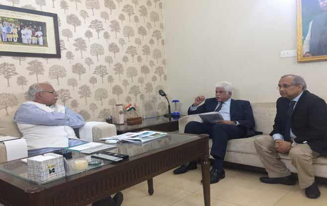 CII President Meeting with CM Haryana