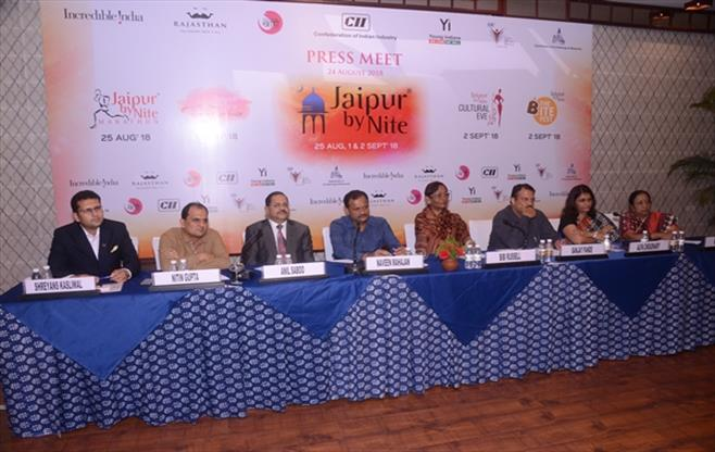 Press conference of CII Jaipur By Nite