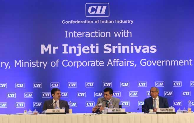 Interaction with Mr Injeti Srinivas