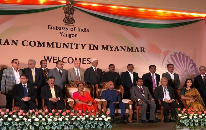 President of India in Myanmar