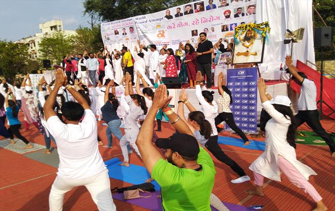 CII Raipur celebrates Yoga Day