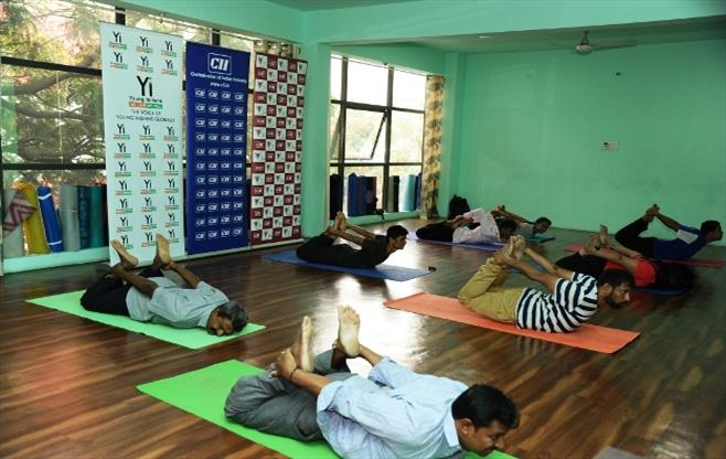 CII Bangalore celebrates Yoga Day