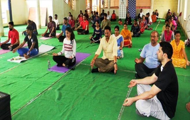 CII Vijayawada celebrates Yoga Day