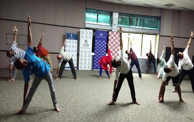 CII Telangana celebrates Yoga Day