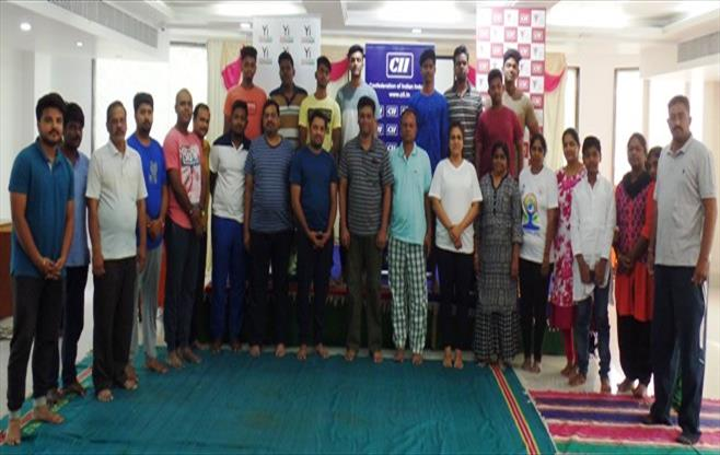 CII Puducherry celebrates Yoga Day