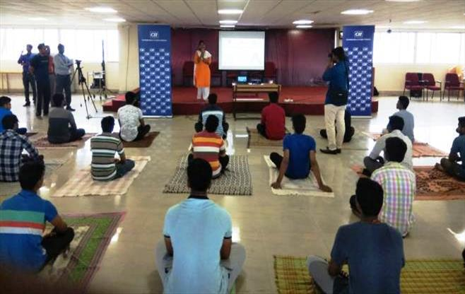 CII Chennai celebrates Yoga Day