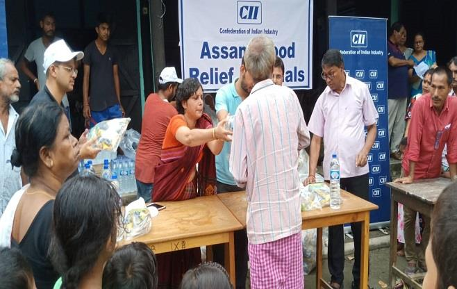CII Flood Relief materials distribution
