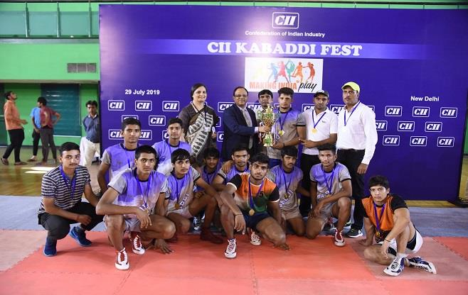 Winners of CII Kabaddi Fest 2019