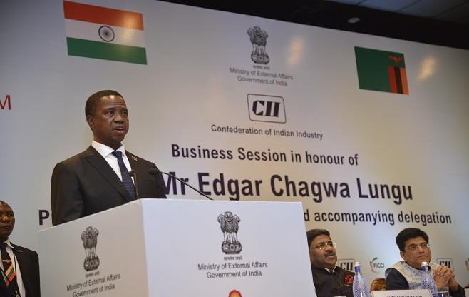 Session with H.E. Mr Edgar Chagwa Lungu