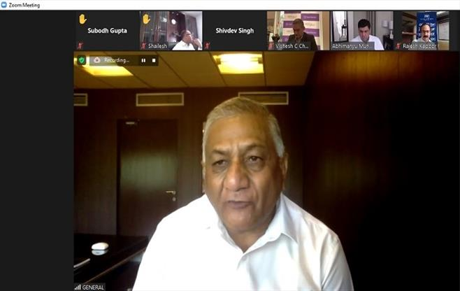 Interaction with General (Dr) V K Singh