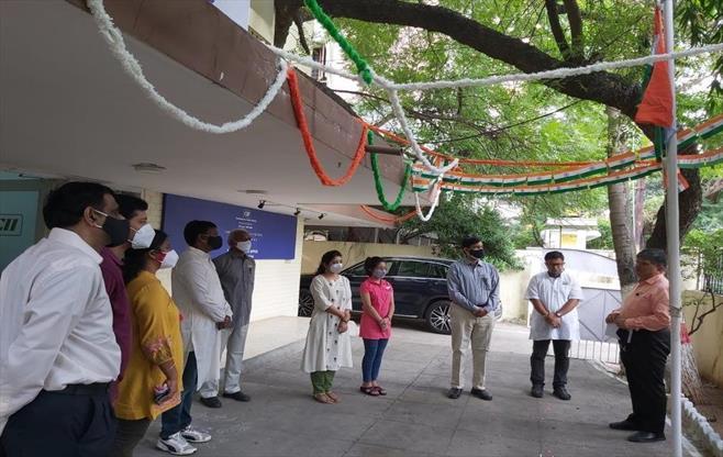 Telangana office Celebrating India@75