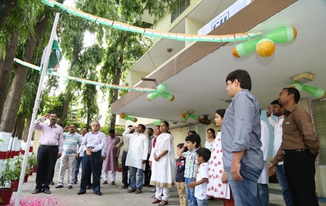 CII Hyderabad hoisted the National Flag