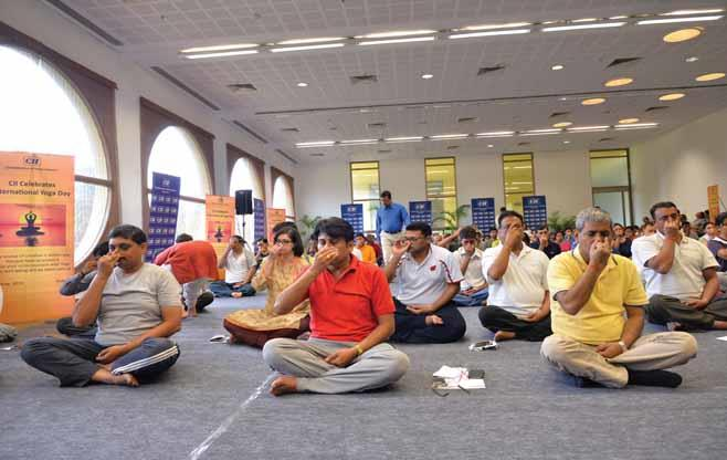 CII Celebrates International Yoga Day