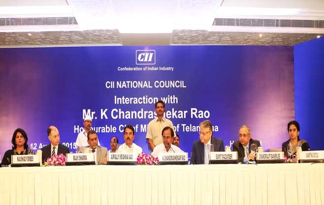 Interaction with Mr K Chandrashekar Rao