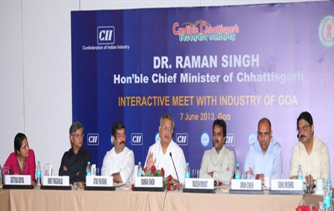 Interaction with Chhattisgarh CM