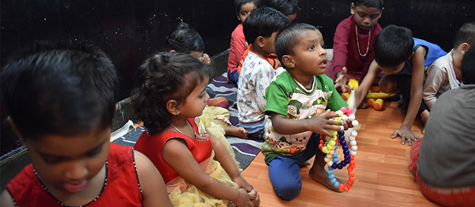Engaging and educational games to improve learning among the children at Anganwadi Centre